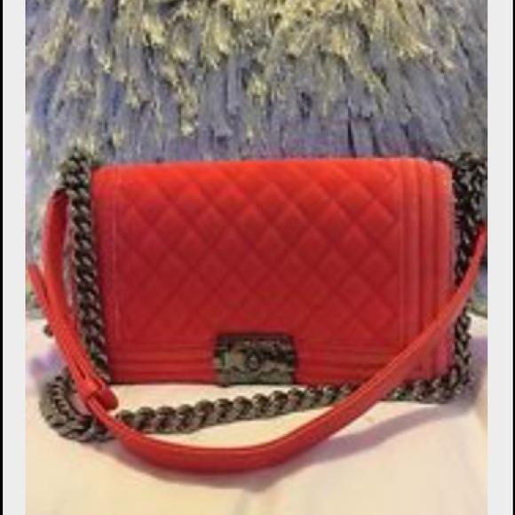 74df02b00c4ef7 CHANEL Bags | Not For Sale Leboy Bag In Velvet Coral | Poshmark