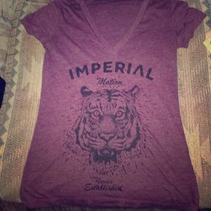 Imperial Motion Tops - Burgundy Imperial Motion shirt, size small.