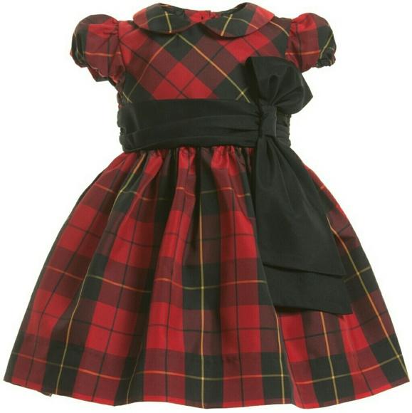 6d3308d55 Ralph Lauren baby girl Tartan plaid dress. M 582cb6b14e95a3679e04c2a5
