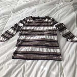 J. Crew striped 3/4 length sleeve shirt. Size S.