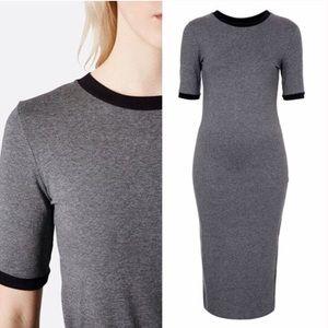 Topshop Dresses & Skirts - TopShop Ribbed Trim Midi Dress