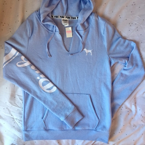 pink victoria 39 s secret sold on merc vs pink baby blue pull over hoodie from cariana 39 s. Black Bedroom Furniture Sets. Home Design Ideas