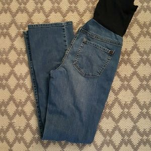 Boot cut Maternity jeans.