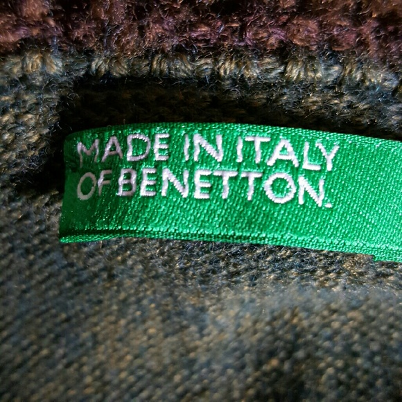 BENETTON   Sweaters - CLASSIC Made in Italy of Benetton zip down Sweater