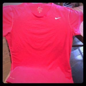 Women's pink medium Nike Dri-Fit workout tee