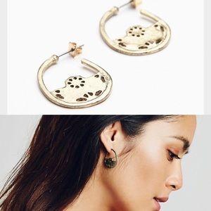 Free People Jewelry - NWT free people hidden treasure hoop earrings