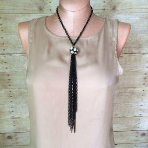 Jewelry - 3 for $21 sale! 🎲🎲🎲Rhinestone & tassel necklace