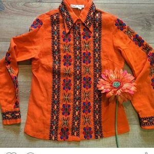 True Vintage 60-70s Embroidered Top