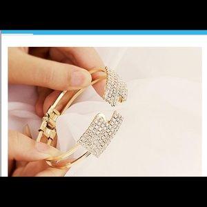 Jewelry - Elegant Bangle Crystal Rhinestone Cuff Bracelet