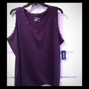 Kiyonna Tops - PURPLE SHELL