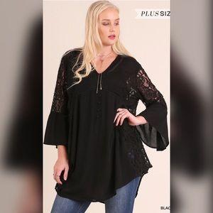 Tops - Date Night Sexy Tunic-Black