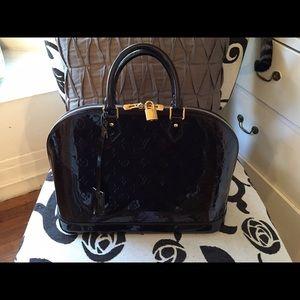 Louis Vuitton Handbags - Alma Vernis Gm Burgundy/Rouge Fauviste Satchel