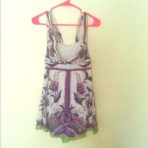 Free people paisley hippy tunic dress
