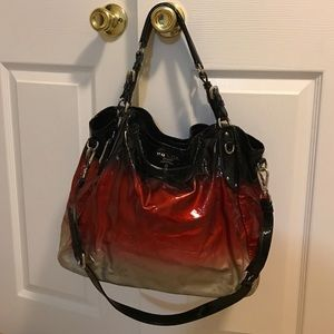 Prada Bags   Red And Black Ombr Patent Bag   Poshmark fc21df878e