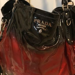 4be35f6c4dc0 Prada Bags | Red And Black Ombr Patent Bag | Poshmark