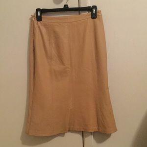 Kasper Dresses & Skirts - 🔥🔥BEST OFFER🔥🔥100% Genuine LEATHER Beige Skirt