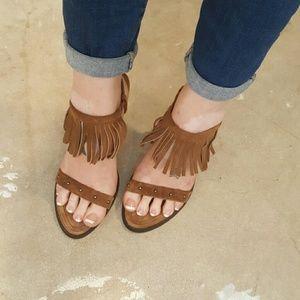 MIA Shoes - MIA Genuine Leather Fringe Heels