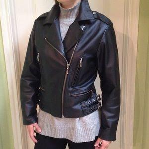 Oscar Piel Jackets & Blazers - Black genuine leather moto biker jacket