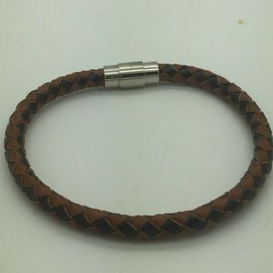Other - Men's two tone leather bangle