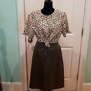 Dresses & Skirts - MOSS GREEN BUTTERY SOFT LEATHER SKIRT