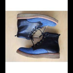 ef0ef8b20b61 Jimmy Choo Shoes - JIMMY CHOO Halden Desert Crepe Boot Denim Leather