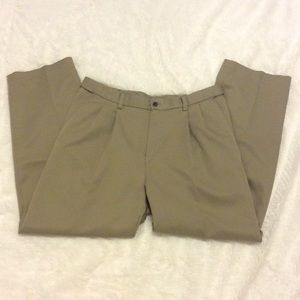 Haggar Other - Pleated dress pants, elastic waistband, 33x30