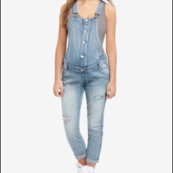 75% off Indigo Blue Denim - Jeans Overalls - Maternity from ...