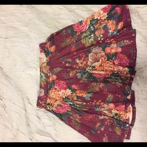 Boohoo floral skirt US8