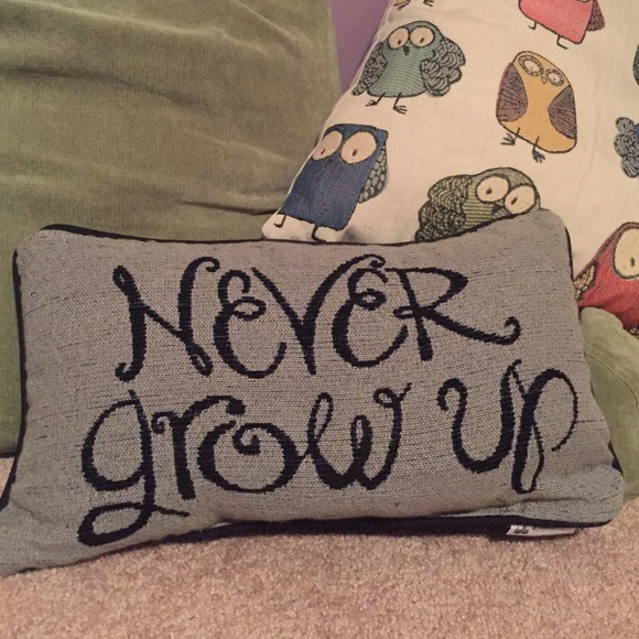 Disney Other Never Grow Up Peter Pan Pillow Poshmark