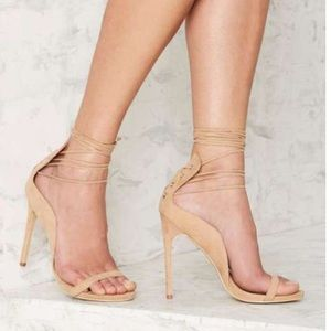 Nasty gal lace up heels