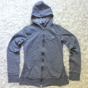 Armani Exchange Tops - [Armani Exchange] Gray Zip-Up Hoodie - S