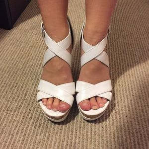 Guess Shoes - White GUESS Wedges