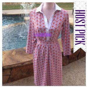 JMCL Dresses & Skirts - JMCL Elsie DressCoral & White Dress Matching Sash