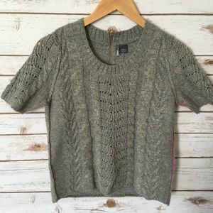 NWT // Sparkle & Fade //silver & grey Sweater // S