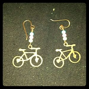 *Adorable Bicycle Earrings!!*