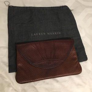 Lauren Merkin Handbags - Brown woven Lauren merkin clutch
