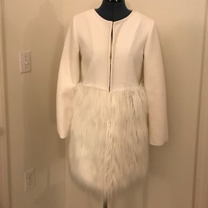 Chicwish Jackets & Blazers - Chicwish White Faux Fur Snap Front Coat
