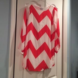 Gabriella Rocha Dresses & Skirts - Chevron Print Dress