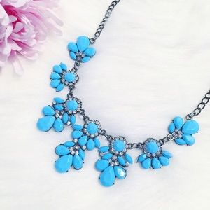 """Erica Rose Jewelry - 🆑 """"Laurel"""" Necklace    Blue Floral Statement"""