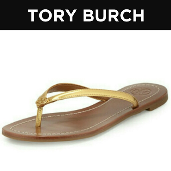 21475365c3b NWOT Tory Burch Terra Metallic Gold Sandals. M 582d160dbf6df5f04d006321