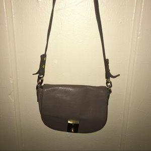 Jcrew Cross body bag in a soft gray color