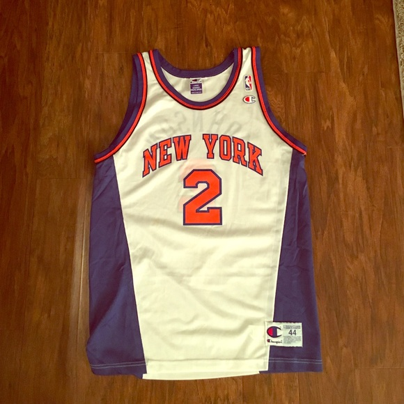 uk availability bce1c d1679 New York Knicks Basketball Jersey - Larry Johnson
