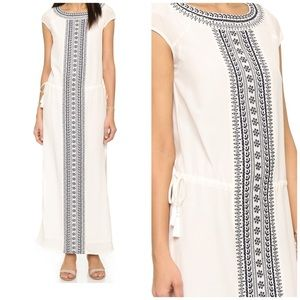 Tory Burch Embroidered Silk Caftan - Small