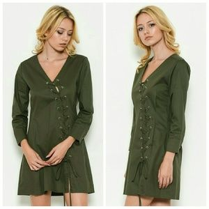 Dresses & Skirts - Sexy Lace-Up Fall Dress