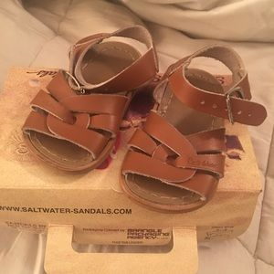 Salt Water Sandals by Hoy Other - Tan saltwater Sandals