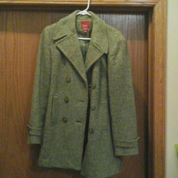73% off Esprit Jackets & Blazers - Women's pea green pea coat from ...
