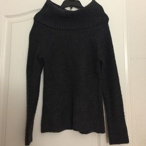 Dark grey turtle neck sweater