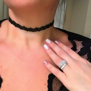Jewelry - HOT! Black Crochet Choker