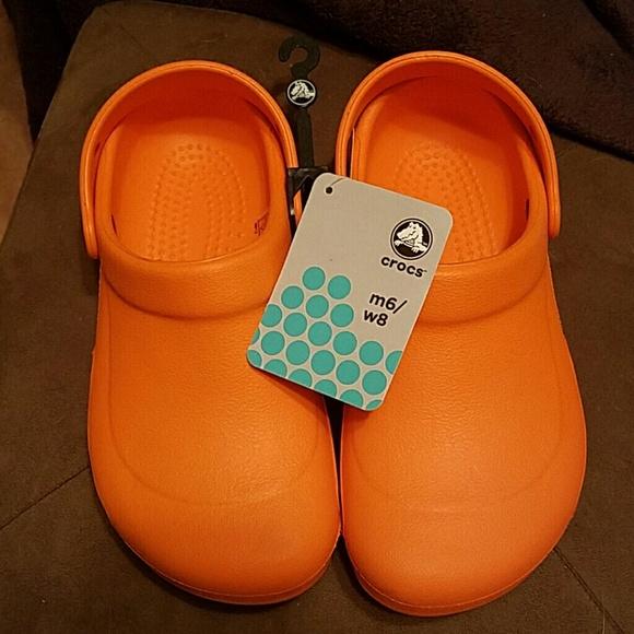 1e4946a3bcbb Crocs orange clogs Mario Batali edition