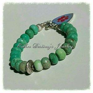 Jewelry - 🌸Boho Style 🌸 Medical ID w/ .925 Silver & Opals
